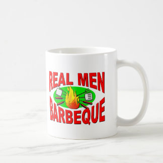 Real Men Barbeque. Funny Design for The BBQ King. Classic White Coffee Mug