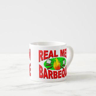 Real Men Barbeque. Funny Design for The BBQ King. 6 Oz Ceramic Espresso Cup