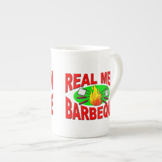 Real Men Barbeque. Funny Design for The BBQ King. Tea Cup