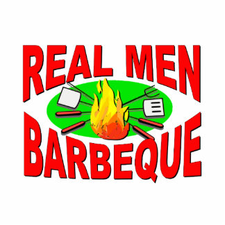 Real Men Barbeque. Funny Design for The BBQ King. Statuette