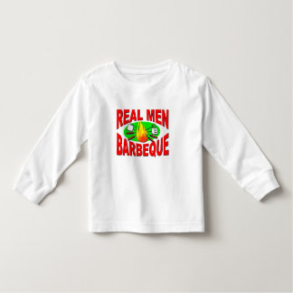 Real Men Barbeque. Funny Design for The BBQ King. Toddler T-shirt