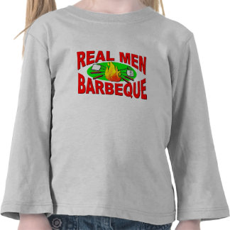 Real Men Barbeque. Funny Design for The BBQ King. Tees