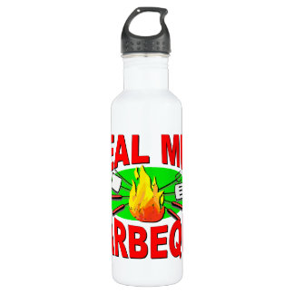 Real Men Barbeque. Funny Design for The BBQ King. Water Bottle