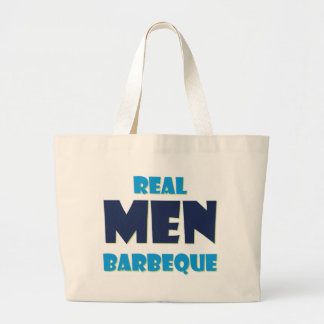 Real Men Barbeque Large Tote Bag