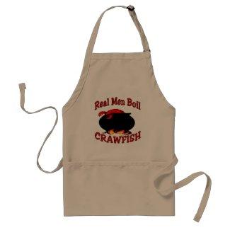 Real Men Boil Crawfish Adult Apron