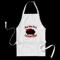Real Men Boil Crawfish aprons