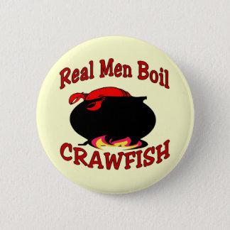Real Men Boil Crawfish Button