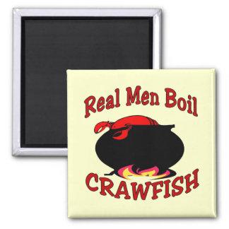 Real Men Boil Crawfish Magnet