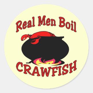Real Men Boil Crawfish Sticker