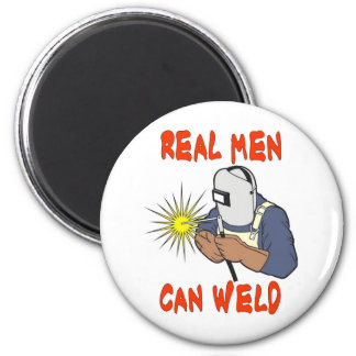 REAL MEN CAN WELD 2 INCH ROUND MAGNET
