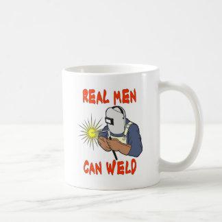REAL MEN CAN WELD CLASSIC WHITE COFFEE MUG