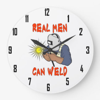 REAL MEN CAN WELD WALL CLOCKS
