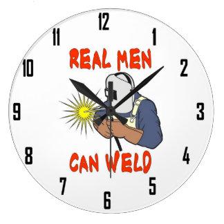 REAL MEN CAN WELD WALLCLOCK