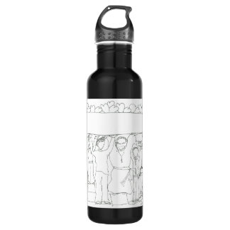 Real Men carry love wherever they go 24oz Water Bottle
