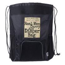 """""""Real Men Carry the Diaper Bag"""" Dad's Diaper Bag"""