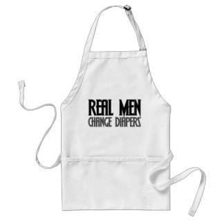 Real Men Change Diapers Adult Apron
