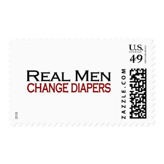 Real Men Change Diapers Stamps