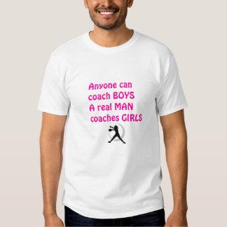 Real Men Coach Girls-Fastpitch Softball T Shirt