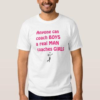 Real Men Coach Girls-Volleyball T-Shirt