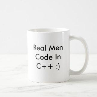 Real Men Code InC++ :) Coffee Cup - Customized Classic White Coffee Mug