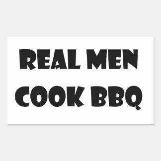 Real Men Cook BBQ Rectangular Sticker