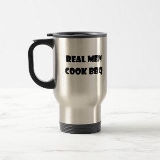 Real Men Cook BBQ Travel Coffee Mug