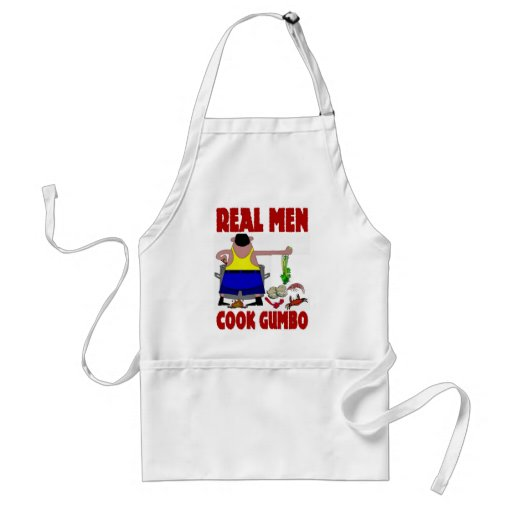 Real Men Cook Gumbo Adult Apron