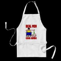 Real Men Cook Gumbo aprons