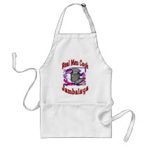 Real Men Cook Jambalaya Adult Apron