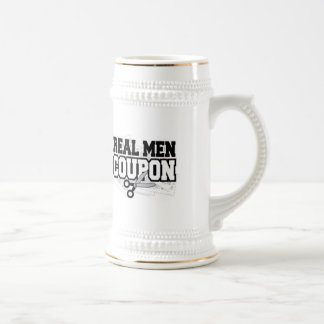 Real Men Coupon Beer Stein