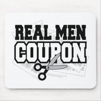 Real Men Coupon Mouse Pad