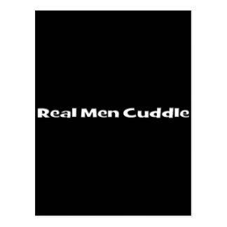 Real Men Cuddle Postcard
