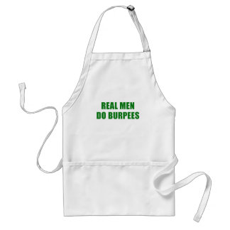 Real Men Do Burpees Adult Apron