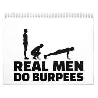 Real men do burpees calendar