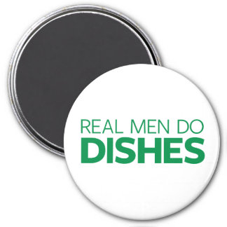 Real Men Do Dishes 3 Inch Round Magnet