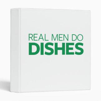 Real Men Do Dishes 3 Ring Binder