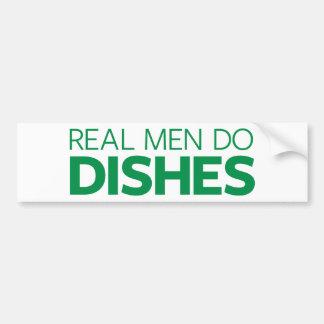 Real Men Do Dishes Bumper Sticker