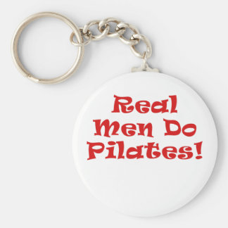 Real Men Do Pilates Keychain