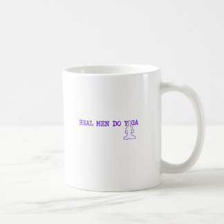 real men do yoga coffee mug