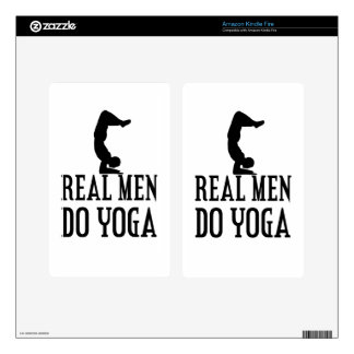 Real Men Do Yoga Decal For Kindle Fire