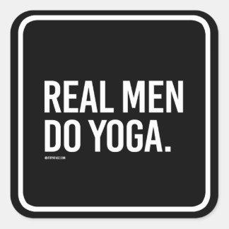 Real men do yoga -   Yoga Fitness -.png Square Sticker