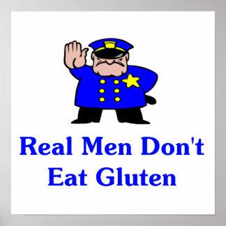 Real Men Don't Eat Gluten Poster