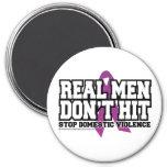 Real Men Don't Hit Fridge Magnet