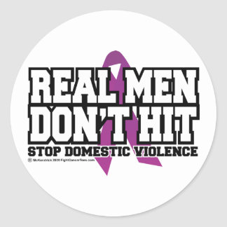 Real Men Don't Hit Sticker