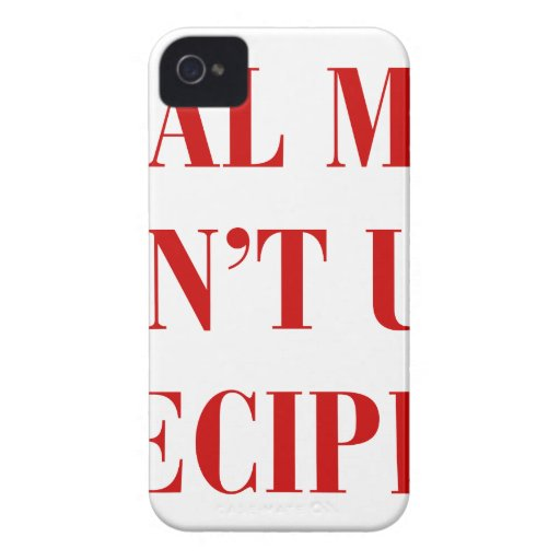 real-men-dont-use-recipes-bod-burg.png iPhone 4 Case-Mate cárcasas
