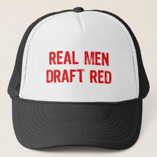 Real Men Draft Red Trucker Hat