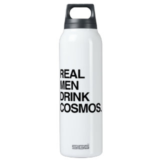 REAL MEN DRINK COSMOS 16 OZ INSULATED SIGG THERMOS WATER BOTTLE
