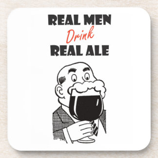 Real Men drink Real Ale coasters