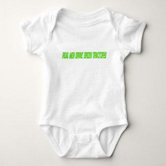 Real Men Drive Green Tractors Baby Bodysuit