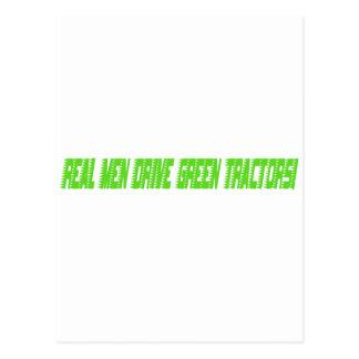Real Men Drive Green Tractors Postcard